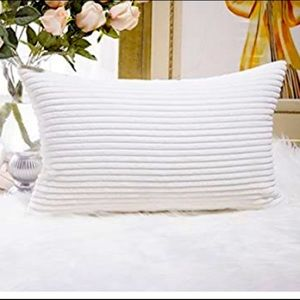 2 Corduroy Beige Pillow Covers 20 by 12